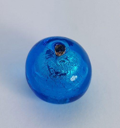 Turquoise Murano glass bead for handmade jewels