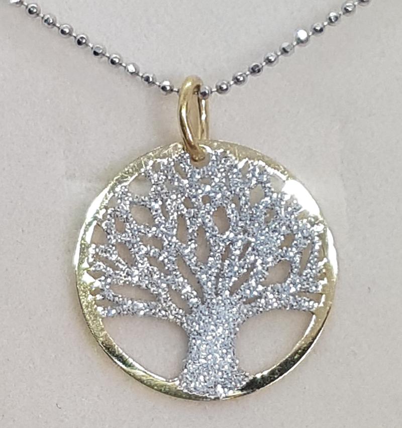 Pendente albero della vita dorato