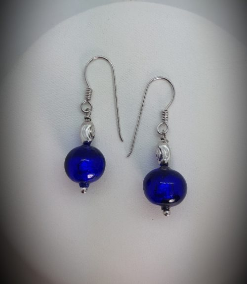 Sterling Silver Earrings with Murano Glass