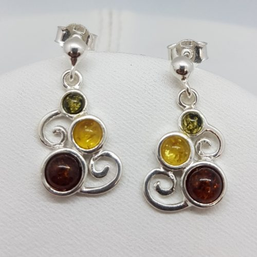 Earrings with Amber