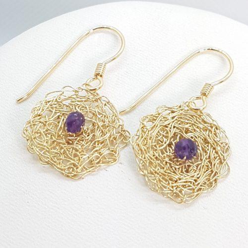 Uncinetto orecchini in argento dorato