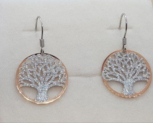 alberi della vita medi rosa orecchini