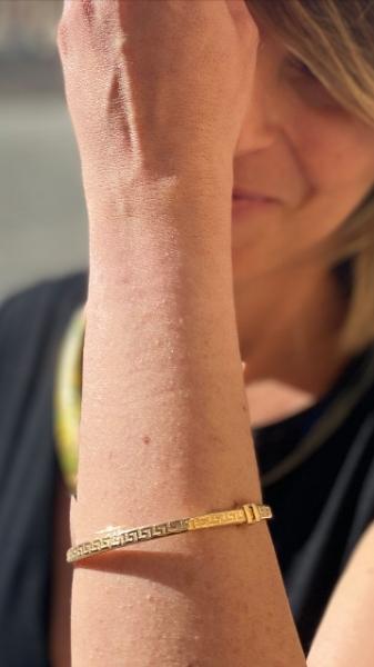 bracciale in argento dorato rigido