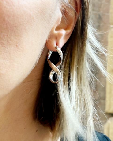 orecchini in argento infinito