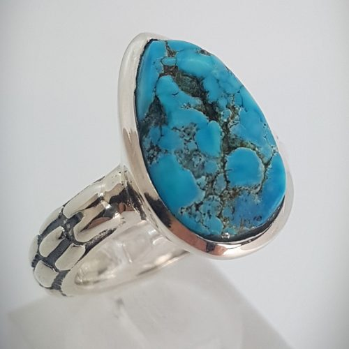 Sterling Silver Ring with Natural Turquoise