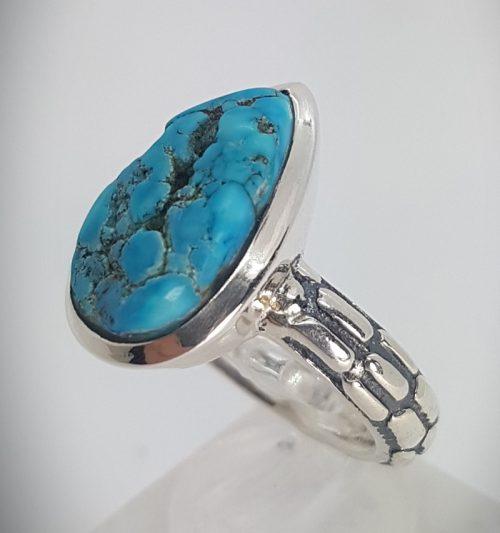 anello turchese e argento