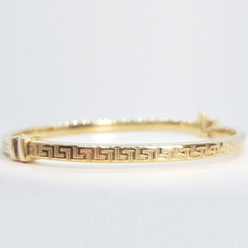 Golden 925 Sterling Silver rigid Bracelet