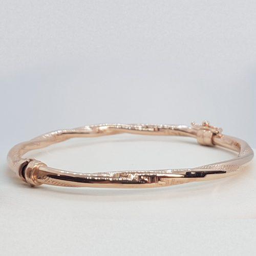 Rose gold Sterling Silver rigid  Bracelet
