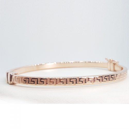 Bracciale in argento rosa