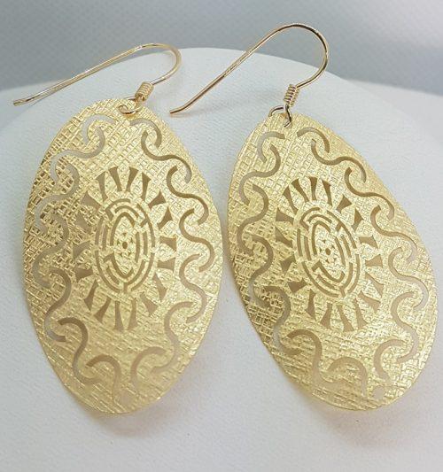 Sole Ovale – Orecchini in Argento dorato