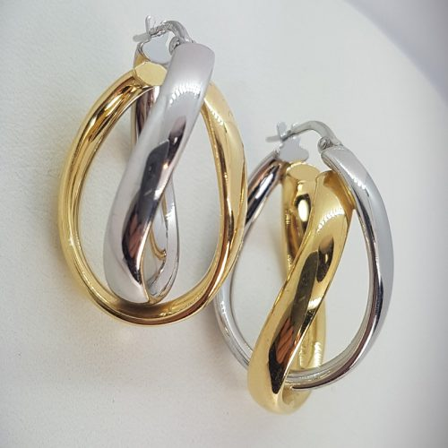 Oval Double Hoops