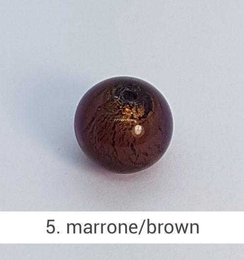 Perlina in vetro di Murano di colore Marrone scuroper gioielli fatti a mano - Gioieselli, Siena