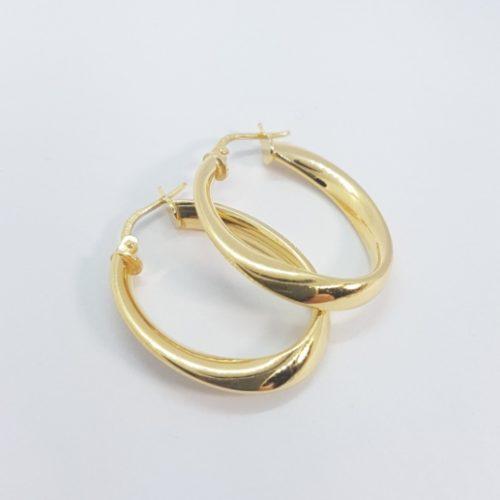 cerchi in argento dorato