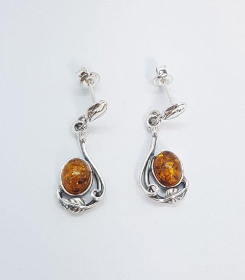 orecchini ambra e argento