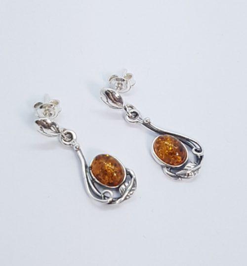 orecchini in ambra