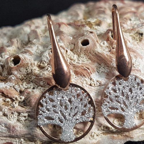 orecchini albero della vita rosati