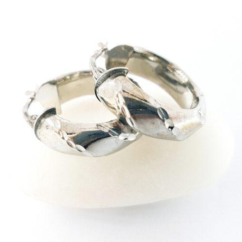 Cerchi in argento tondi da cm 2,3