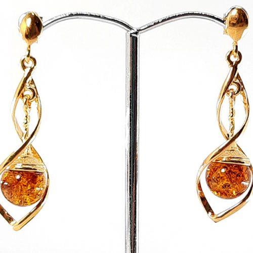 Amber earrings