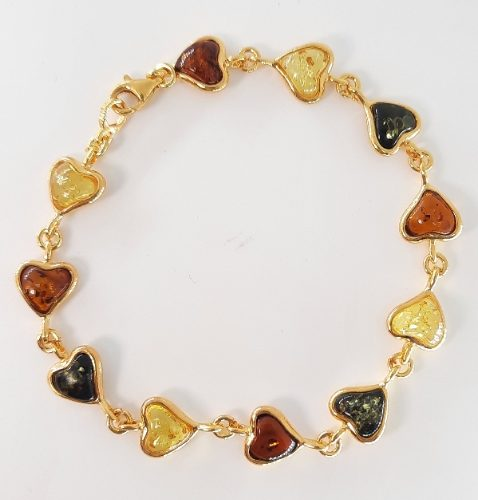 Amber Bracelet and silver